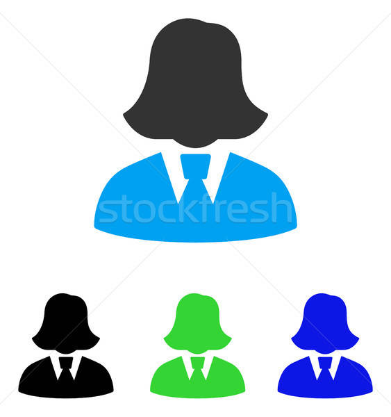 Business Lady Flat Icon Stock photo © ahasoft