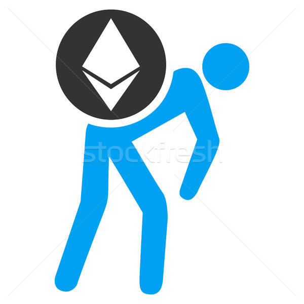 Ethereum Courier Person Flat Icon Stock photo © ahasoft