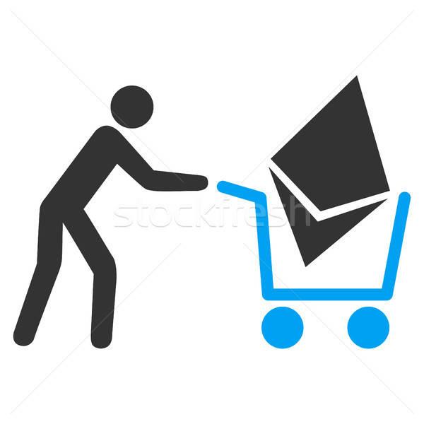 Ethereum Shopping Cart Flat Icon Stock photo © ahasoft