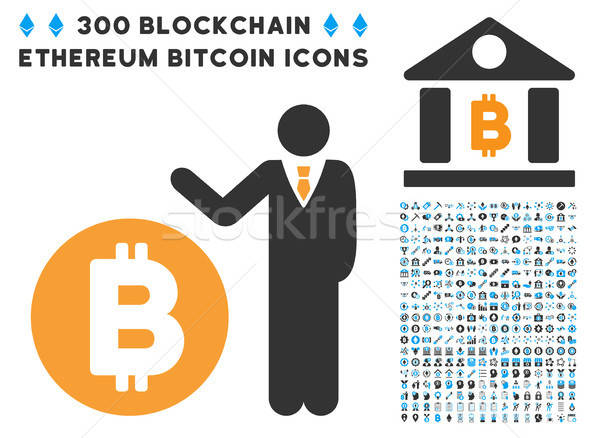 Bitcoin bankier icon clip art smart contract Stockfoto © ahasoft
