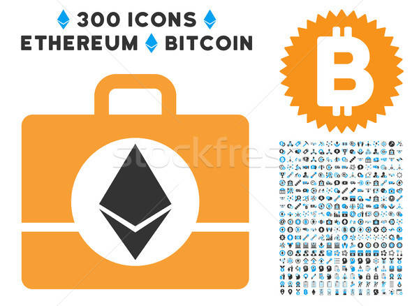 Ethereum Case Flat Icon with Collection Stock photo © ahasoft