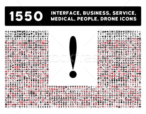 Stockfoto: Teken · icon · meer · interface · business · tools