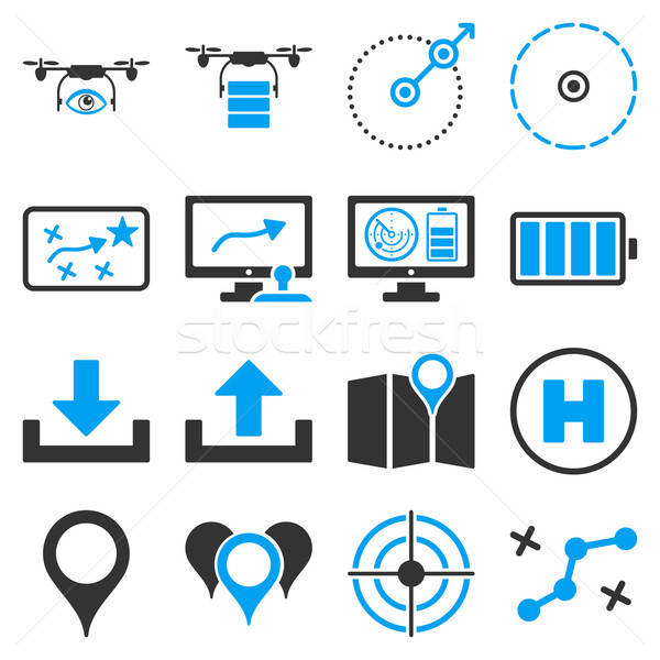 Drone control icon set Stock photo © ahasoft