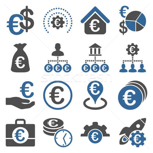 Foto stock: Euros · bancario · negocios · servicio · herramientas · iconos