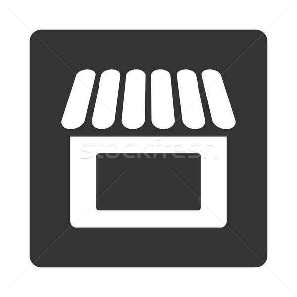 Compras ícone praça botão branco cinza Foto stock © ahasoft