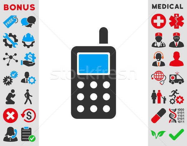 Cell Phone Icon Stock photo © ahasoft