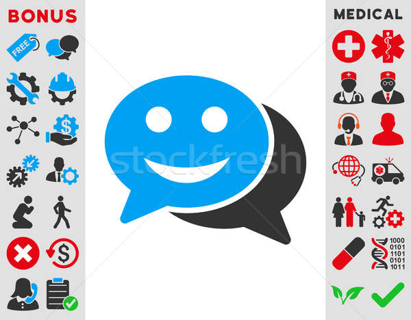 Happy Chat Icon Stock photo © ahasoft