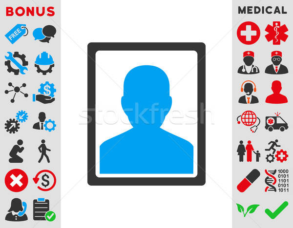 Beteg portré ikon vektor ikon stílus szimbólum Stock fotó © ahasoft
