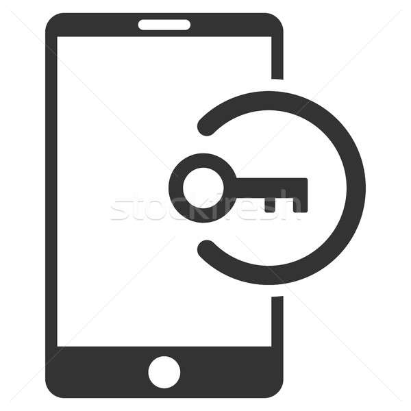 Key Login Smartphone Flat Raster Icon Stock photo © ahasoft
