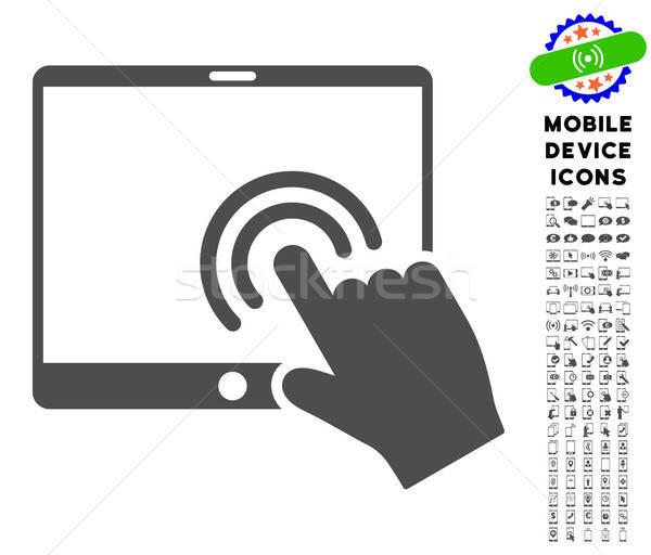 Podwoić kliknij tabletka ikona smartphone Zdjęcia stock © ahasoft