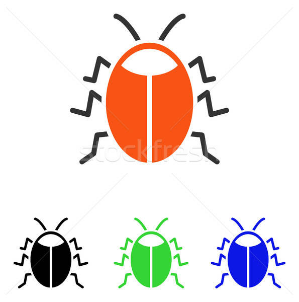 Bug Flat Vector Icon Stock photo © ahasoft