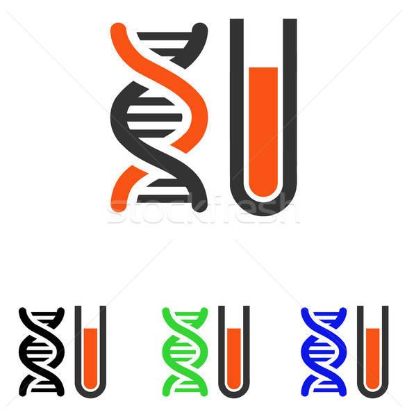 генетический анализ вектора икона иллюстрация стиль Сток-фото © ahasoft