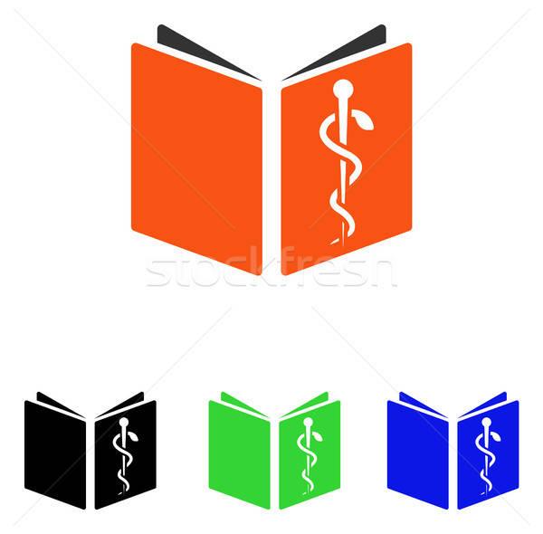 Drug Handbook Flat Vector Icon Stock photo © ahasoft
