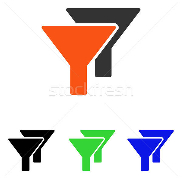 Filters Flat Vector Icon Stock photo © ahasoft