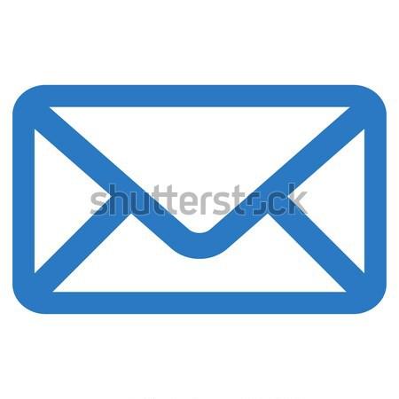 Envelop icon vector gekleurd kleur zwarte Stockfoto © ahasoft