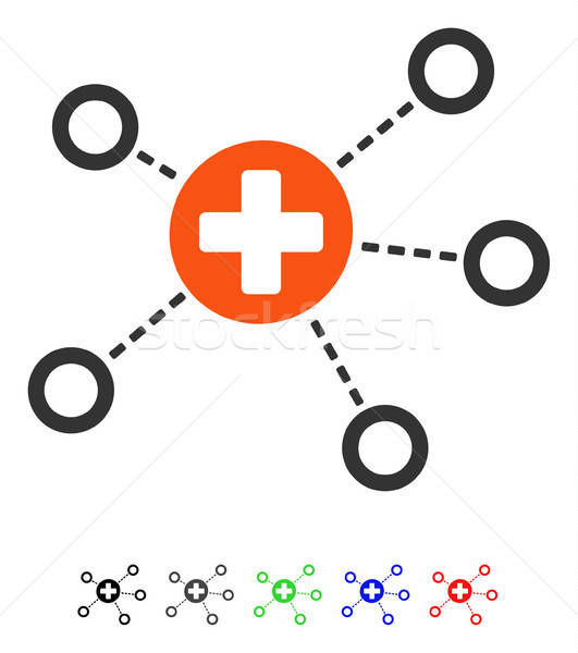 Medical Links Flat Icon Stock photo © ahasoft