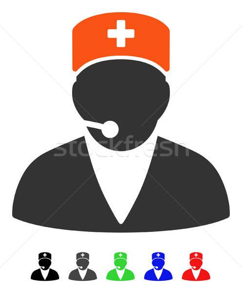Tıbbi operatör ikon vektör renkli renk Stok fotoğraf © ahasoft