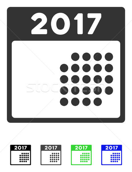 2017 Month Calendar Flat Icon Stock photo © ahasoft