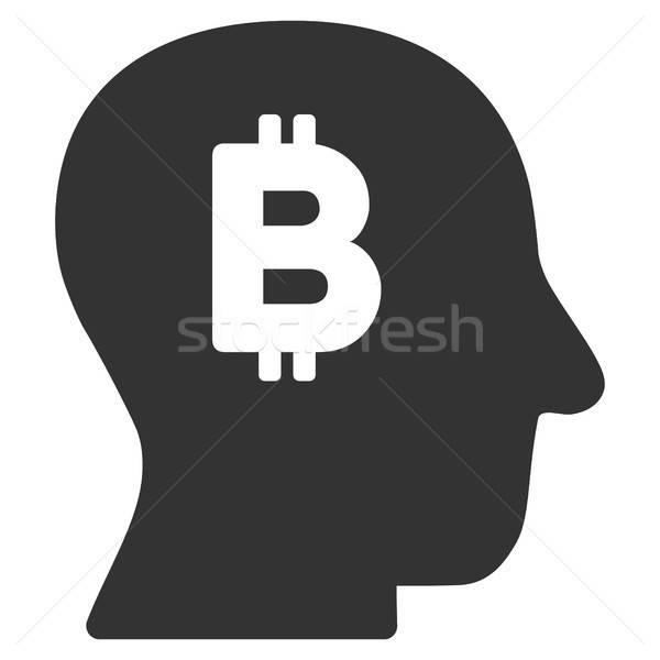 Foto stock: Bitcoin · e · ícone · vetor · pictograma · aplicação