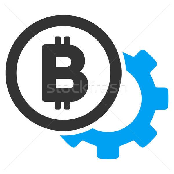 Bitcoin seçenekleri diş ikon vektör resim yazı Stok fotoğraf © ahasoft