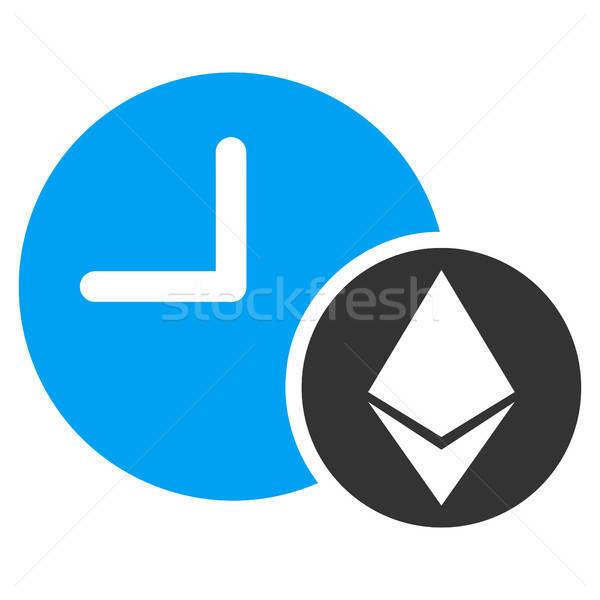 Ethereum Credit Clock Flat Icon Stock photo © ahasoft