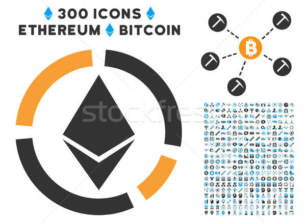 Ethereum Circle Diagram Flat Icon with Clip Art Stock photo © ahasoft