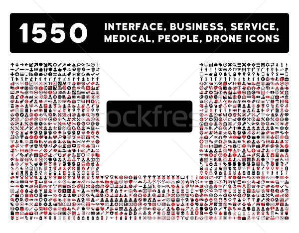 Minus Icon and More Interface, Business, Tools, People, Medical, Awards Flat Vector Icons Stock photo © ahasoft