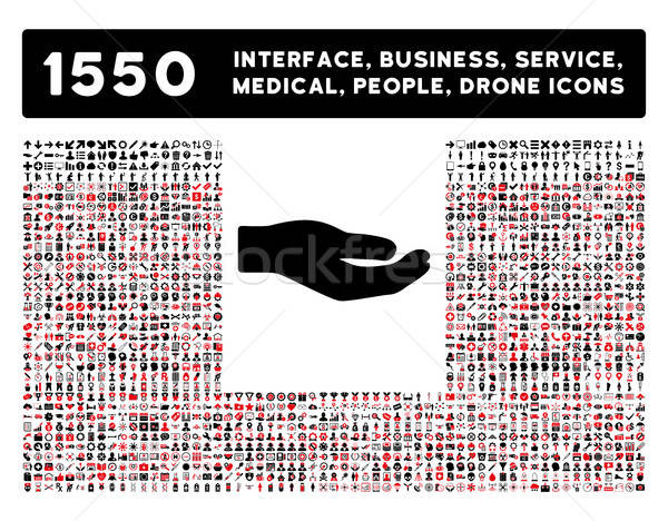 Stock photo: Share Icon and More Interface, Business, Tools, People, Medical, Awards Flat Vector Icons