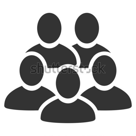 Men Collective Flat Icon Stock photo © ahasoft