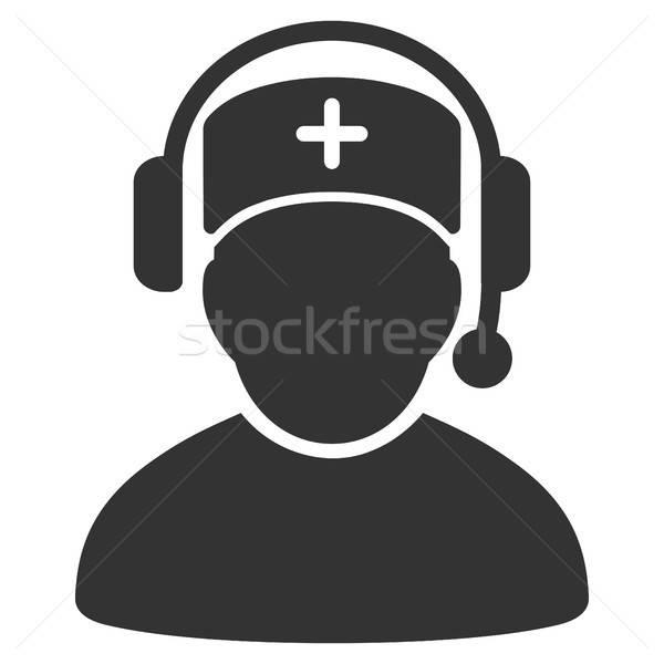 Médico centro de llamadas icono vector pictograma estilo Foto stock © ahasoft