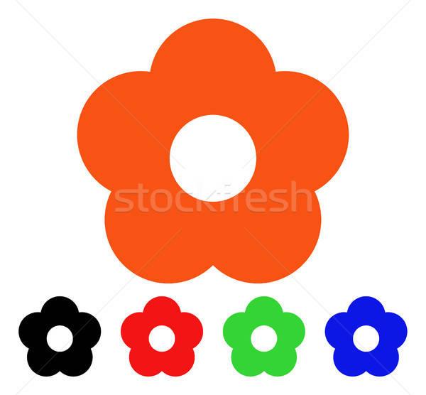 çiçek vektör ikon çiçek stil ikonik simge Stok fotoğraf © ahasoft