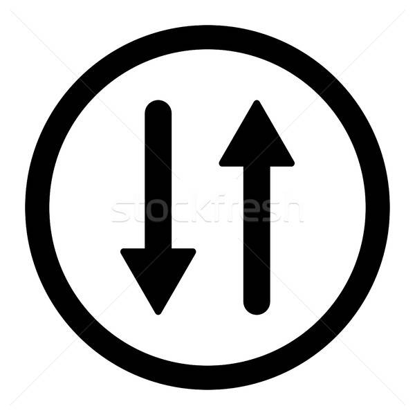 Arrows Exchange Vertical flat black color rounded vector icon Stock photo © ahasoft