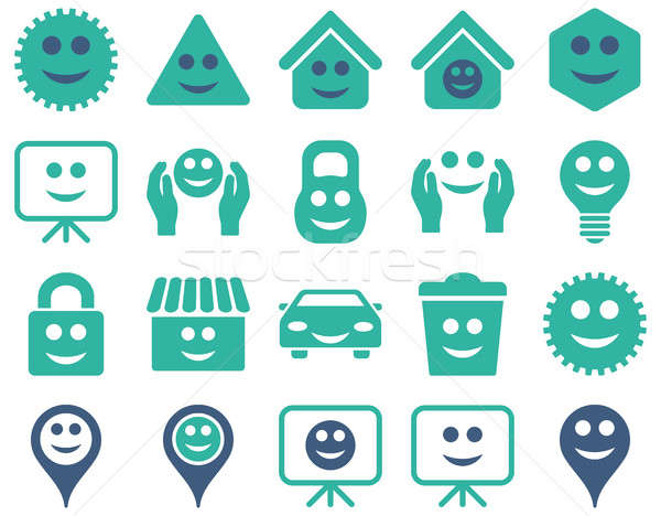 Tools, options, smiles, objects icons Stock photo © ahasoft