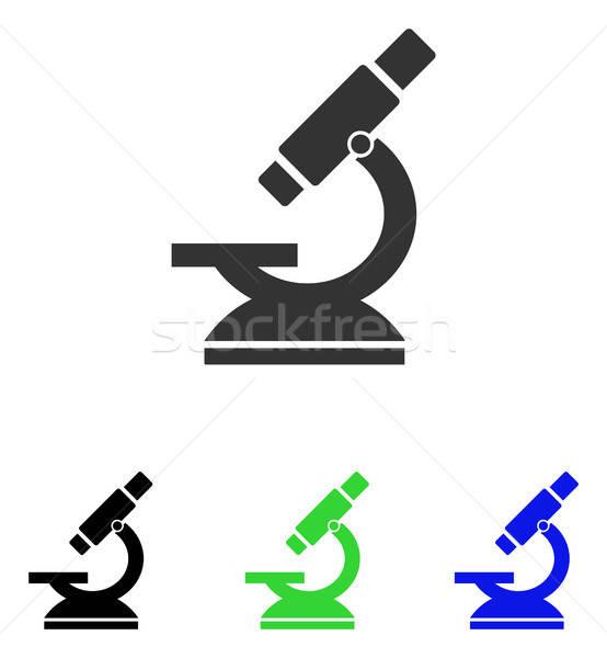 Mikroszkóp vektor ikon illusztráció stílus ikonikus Stock fotó © ahasoft