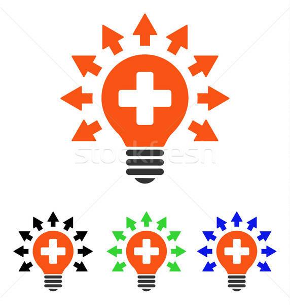 Disinfection Lamp Flat Vector Icon Stock photo © ahasoft