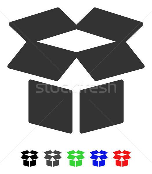 オープン ボックス アイコン ベクトル 色 ストックフォト © ahasoft