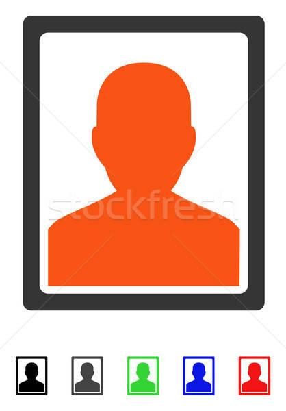 Paciente retrato icono vector color Foto stock © ahasoft