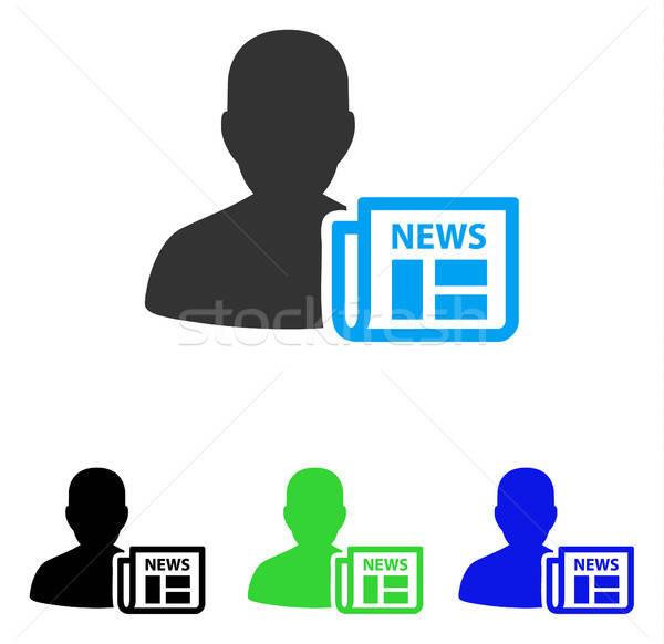 Journal icône vecteur style graphique symbole Photo stock © ahasoft