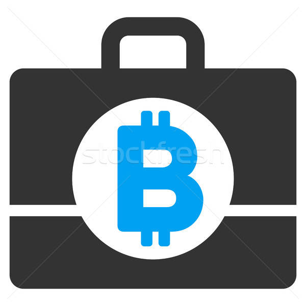 Bitcoin könyvelés tok ikon vektor alkalmazás Stock fotó © ahasoft