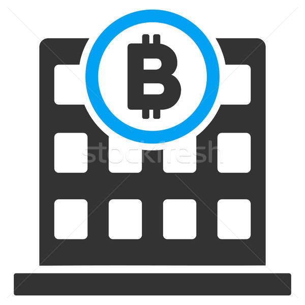 Bitcoin Corporation Building Flat Icon Stock photo © ahasoft