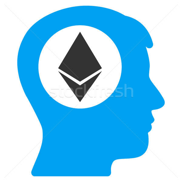 Ethereum Mind Flat Icon Stock photo © ahasoft