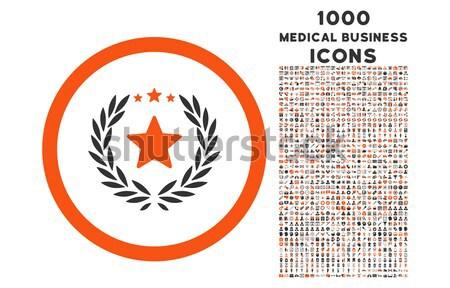 Defne çelenk ikon sanat klibi bitcoin akıllı Stok fotoğraf © ahasoft