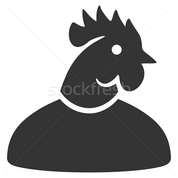 Cock Man Flat Icon Stock photo © ahasoft