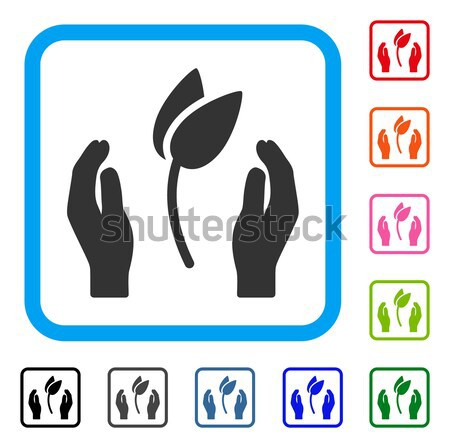 Sprout Care Hands Flat Icon Stock photo © ahasoft