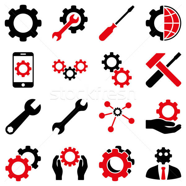 Options and service tools icon set Stock photo © ahasoft