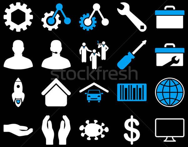 Narzędzia ikona wektora zestaw stylu Zdjęcia stock © ahasoft