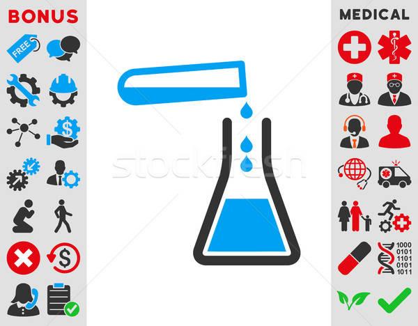 Folyadék vérátömlesztés ikon vektor stílus szimbólum Stock fotó © ahasoft