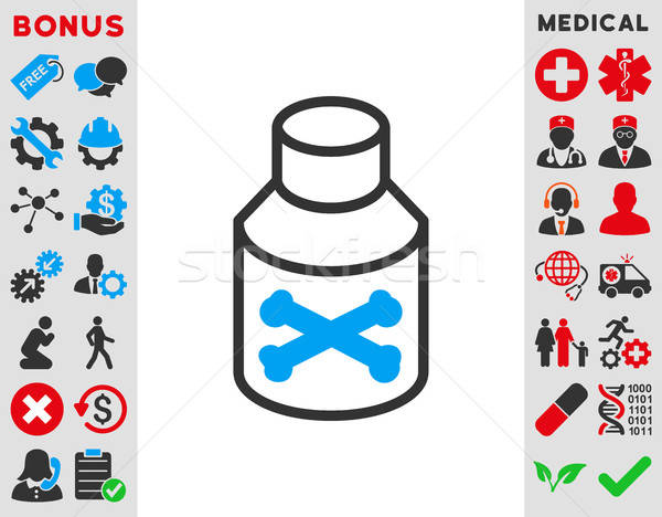 Stock photo: Poison Bottle Icon