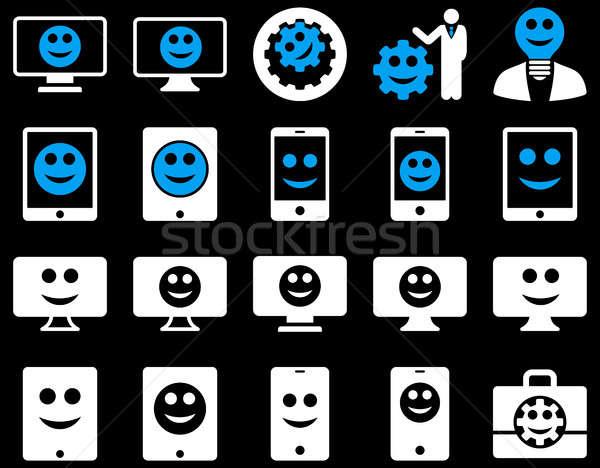 Herramientas opciones sonrisas iconos establecer Foto stock © ahasoft
