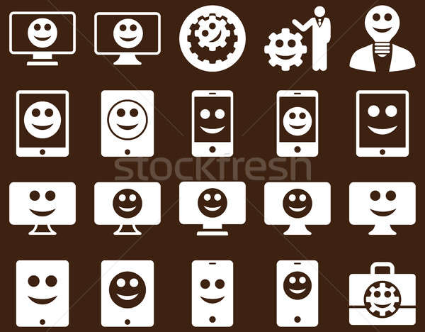 Tools, options, smiles, displays, devices icons Stock photo © ahasoft